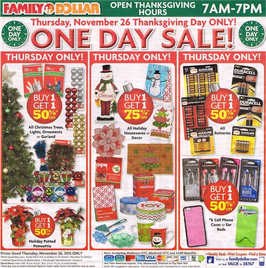 Family Dollar Black Friday Ad 2015
