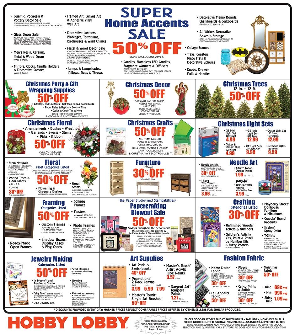Hobby Lobby Christmas Trees Sales