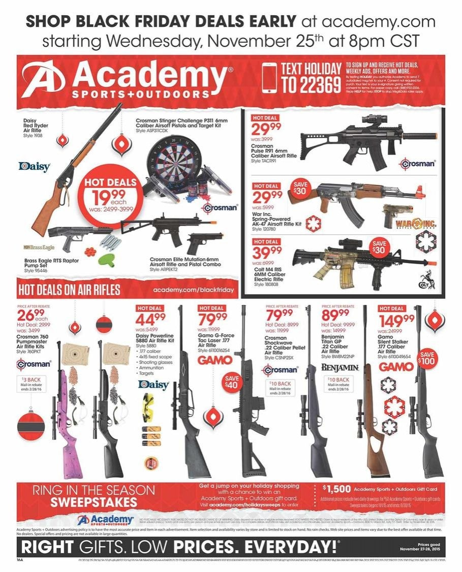 Academy Sports Black Friday Ad 2015