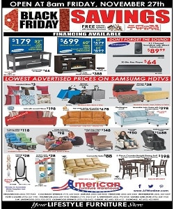 American Furniture Warehouse Black Friday Ad 2015