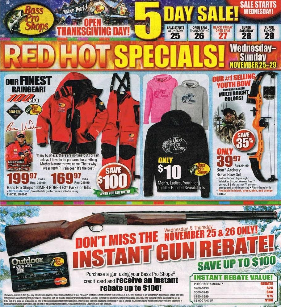 Bass pro shops black friday ad 2015 for Black friday fishing deals