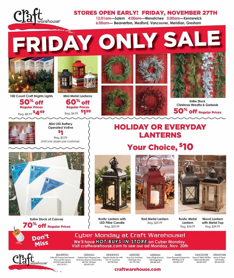 Craft Warehouse Black Friday Ad 2015
