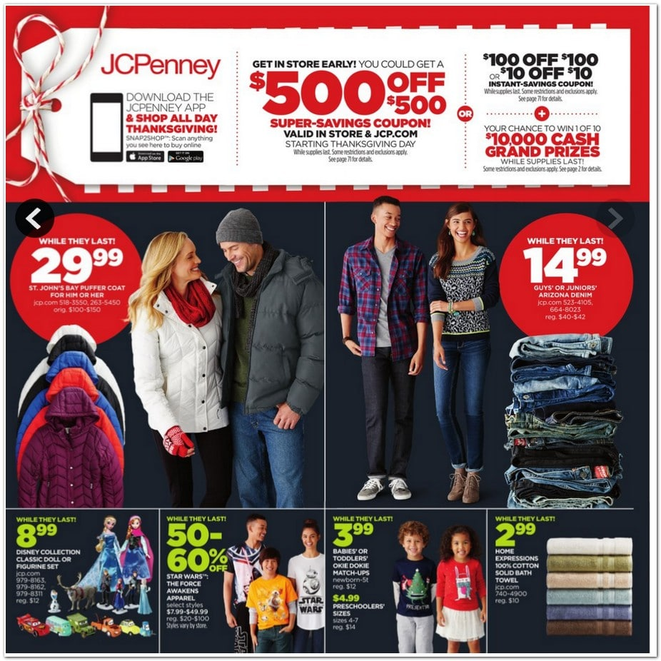 Jcpenney Home Store Locator: JC Penney Black Friday Ad 2015