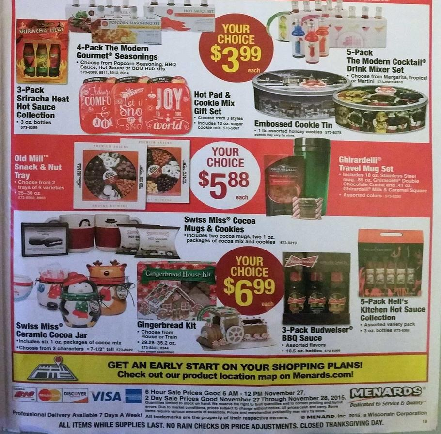 ... check this year Menards Black Friday deals before heading out to shop