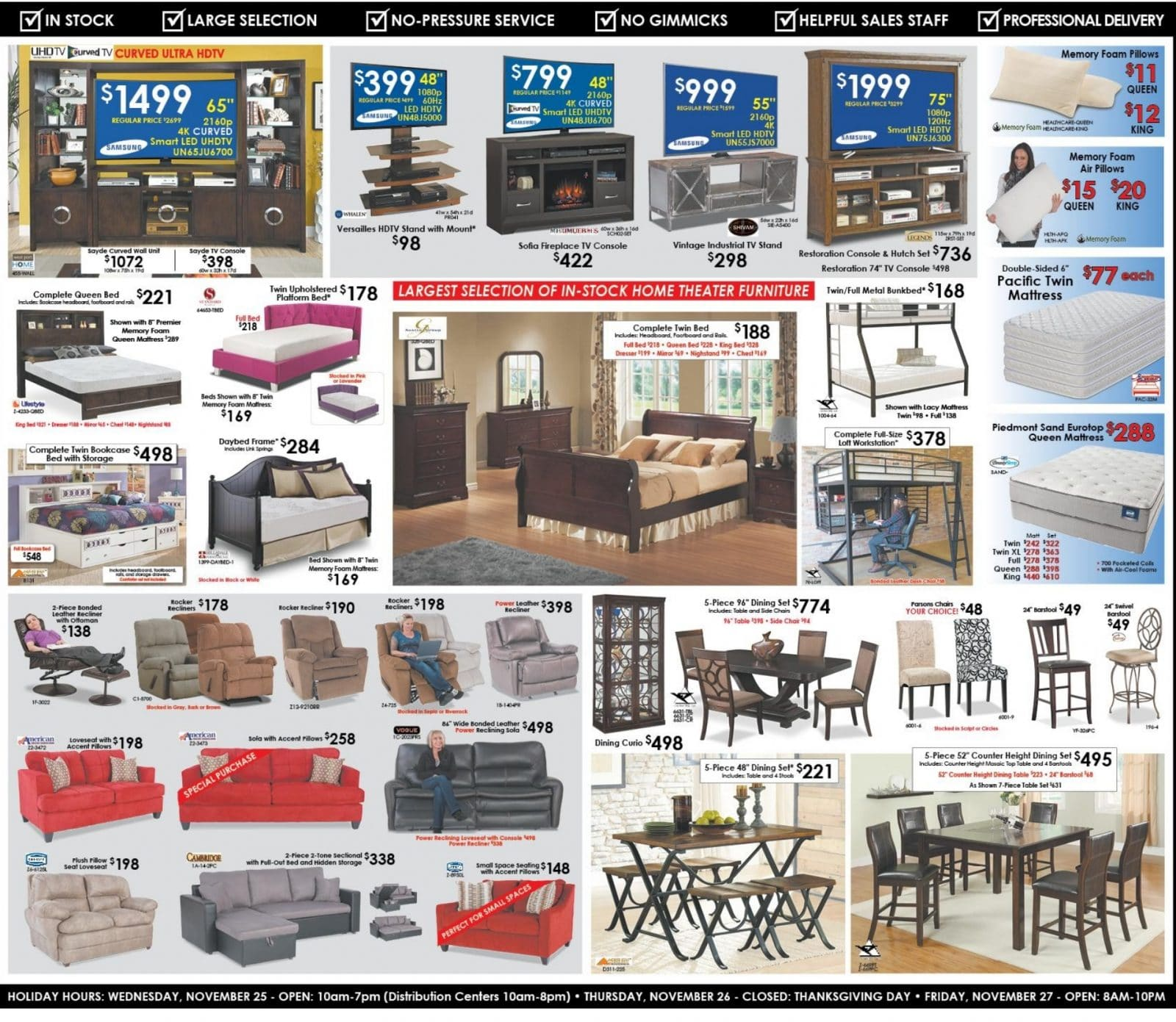 american furniture warehouse black friday ad 2015. Black Bedroom Furniture Sets. Home Design Ideas