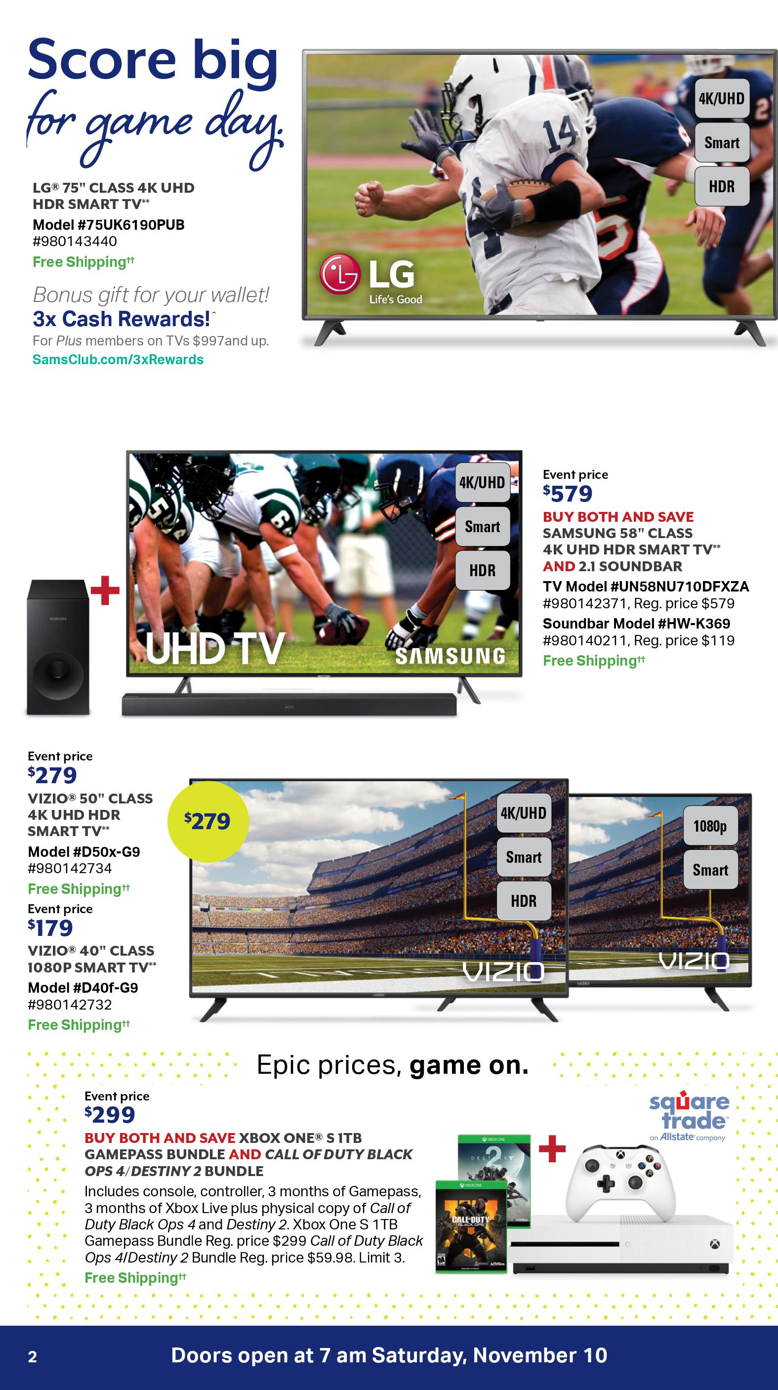 Sam S Club One Day Sale Ad For 2018 November 10