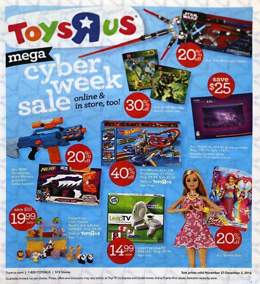 Sams Auto Sales >> Toys R Us Cyber Monday 2016 Ad