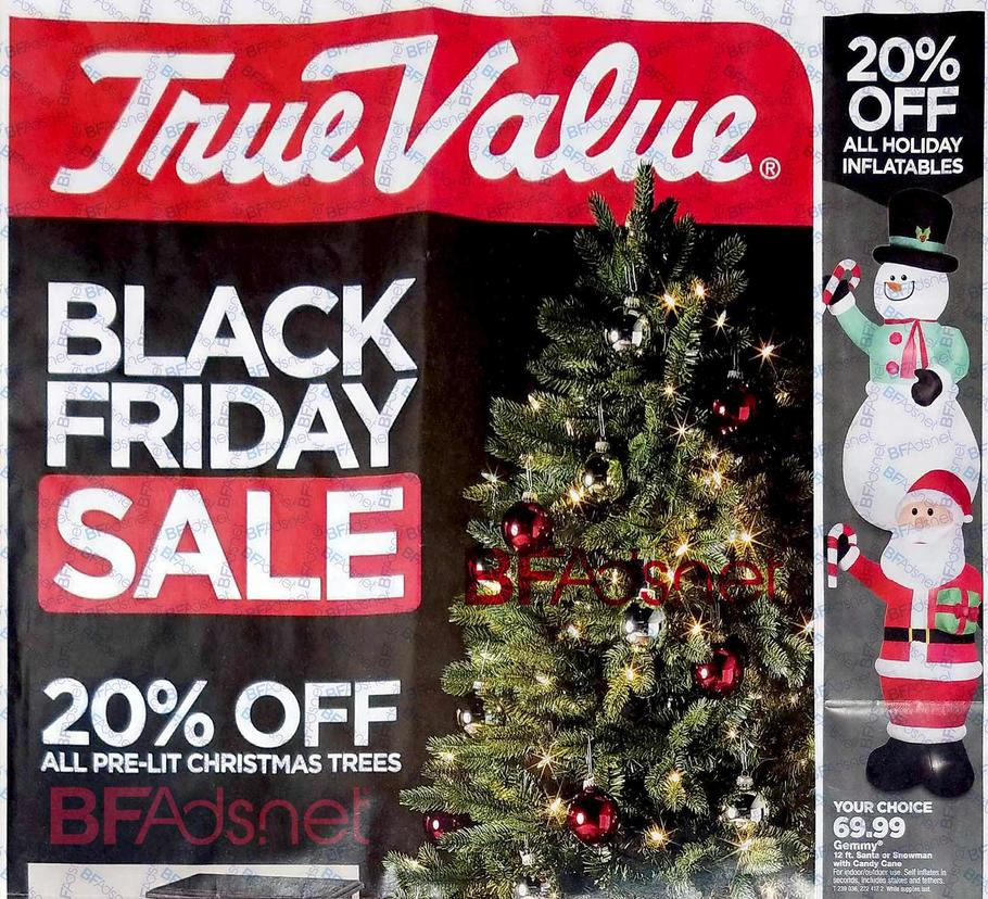 true value ad - Black Friday Deals On Christmas Trees
