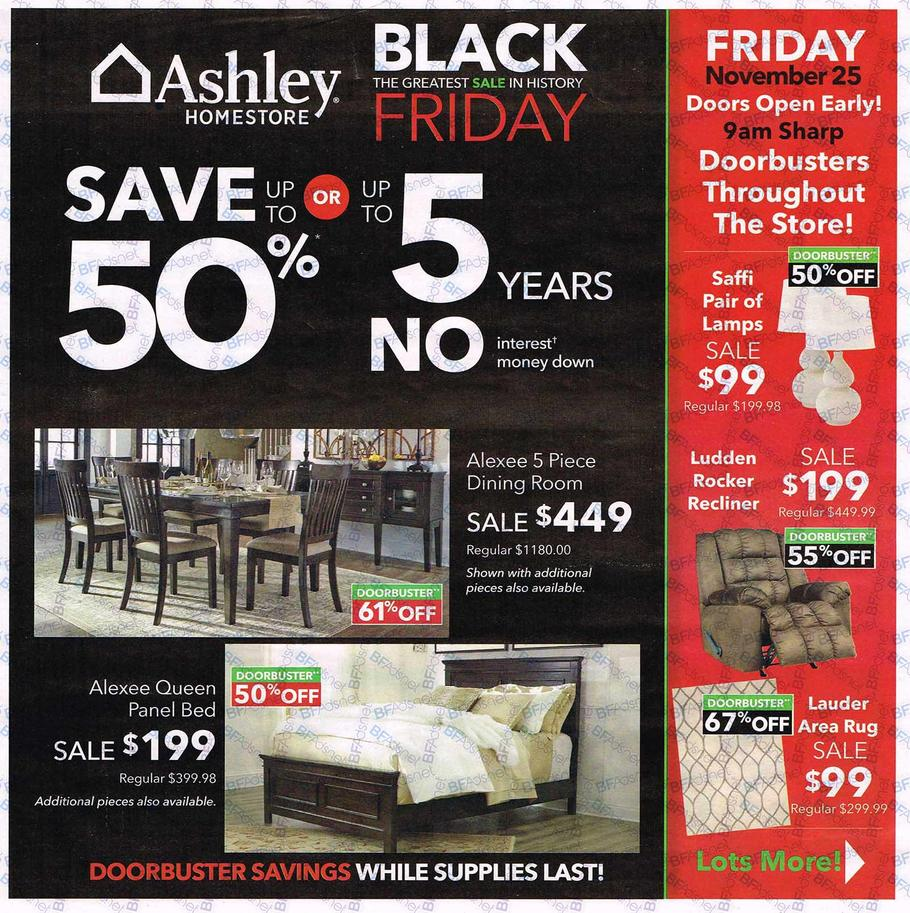 Ashley Furniture 2016 Black Friday Ad