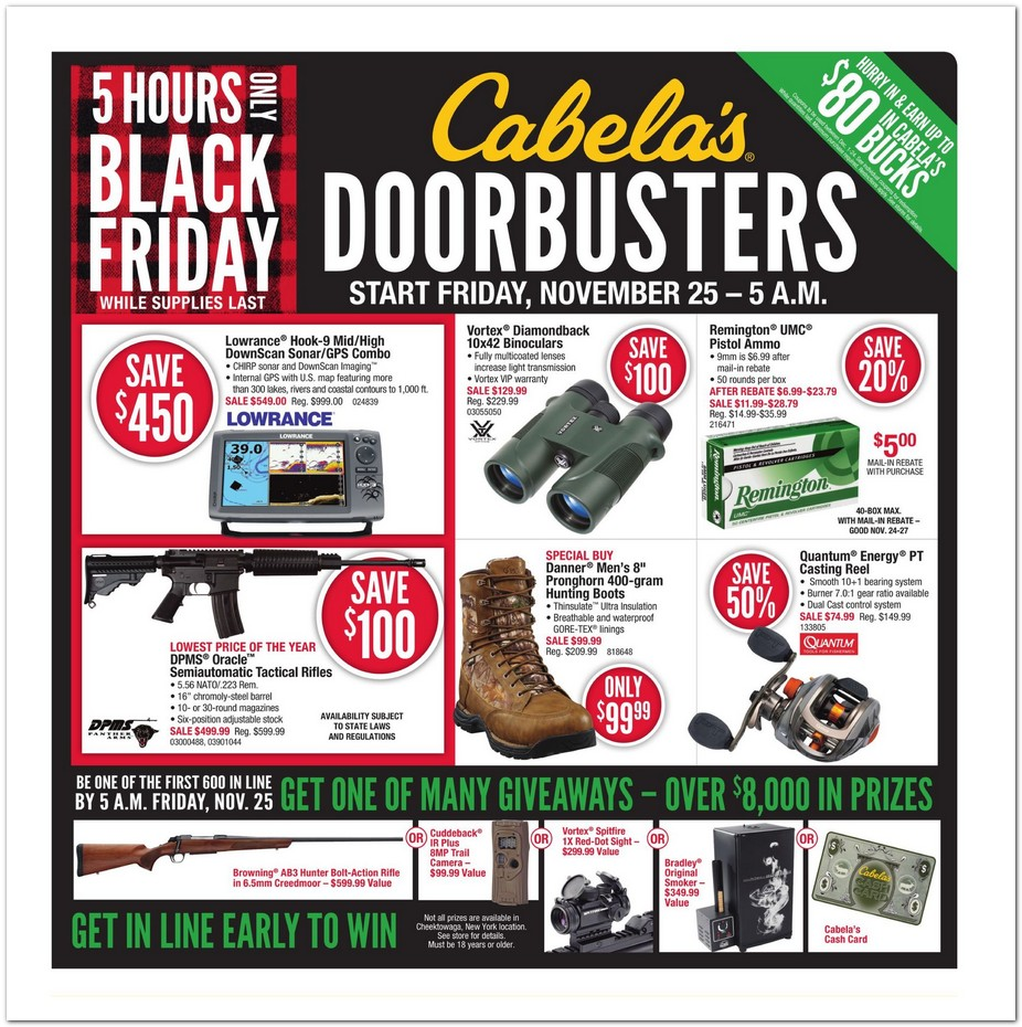 cabela 39 s black friday ad 2016. Black Bedroom Furniture Sets. Home Design Ideas