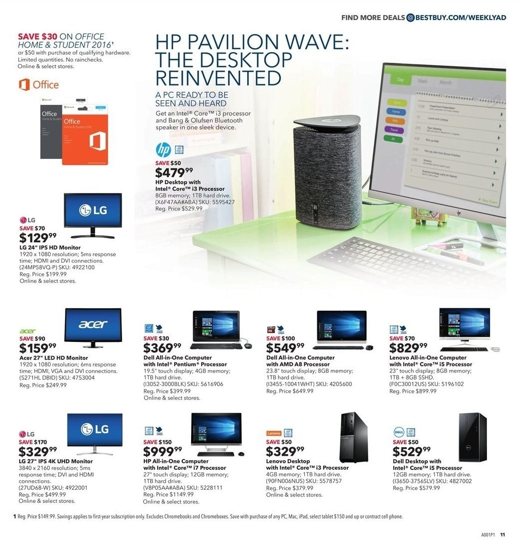Best Buy Cyber Monday 2016 Ad
