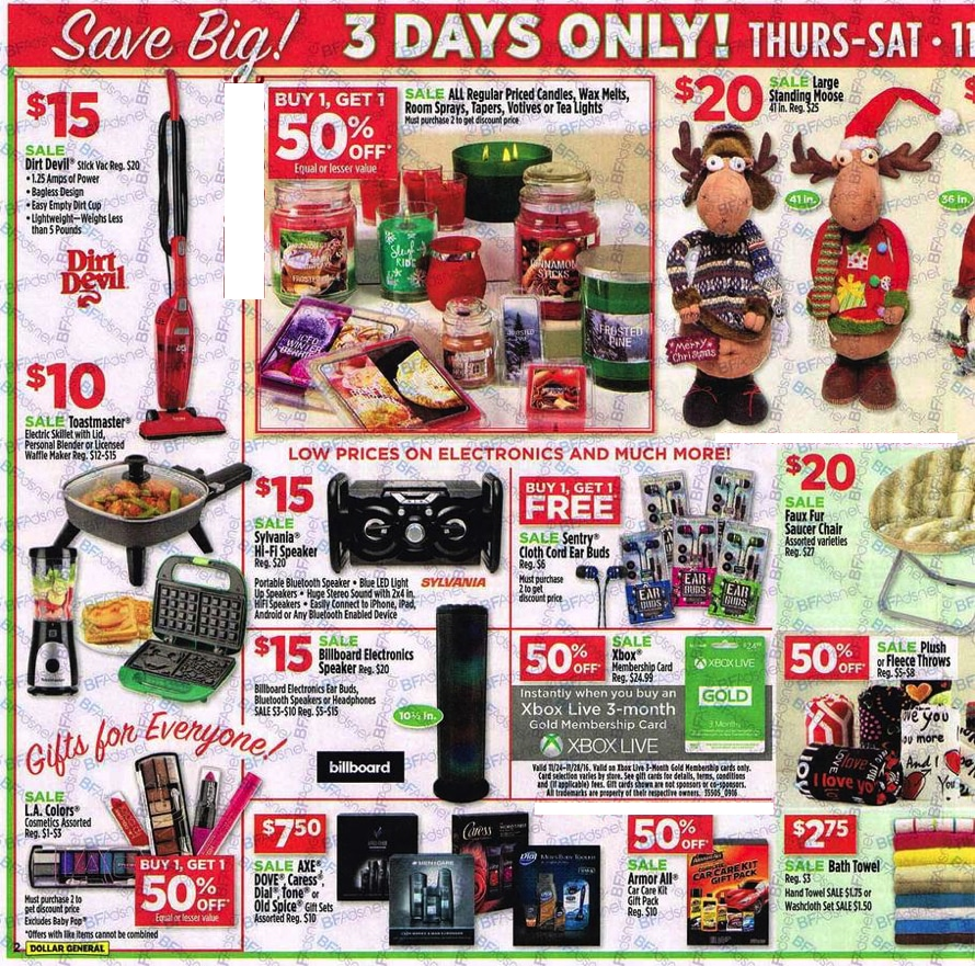 Dollar General Black Friday Ad 2016