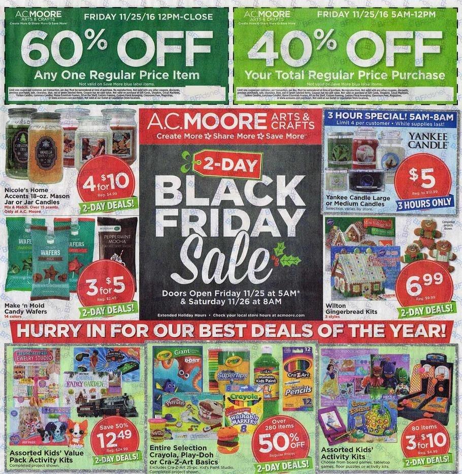 Ac Moore Black Friday Ad 2016
