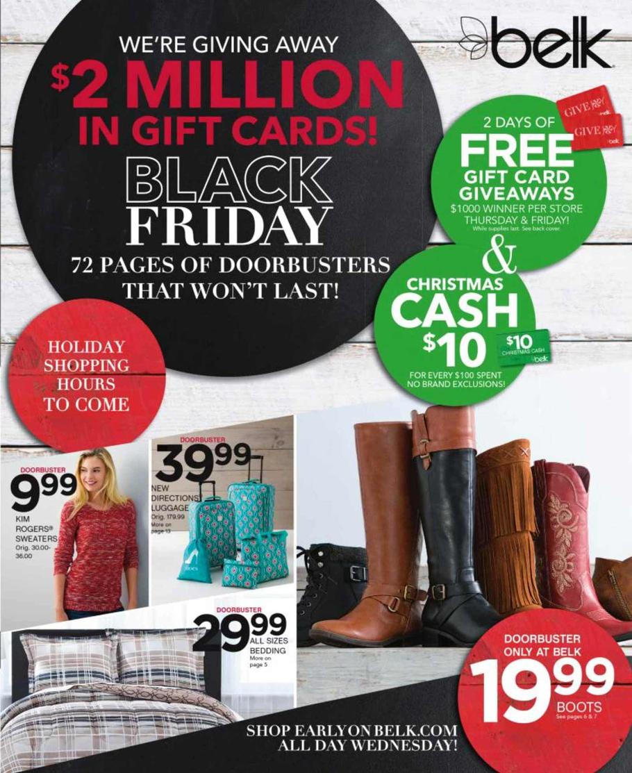 Belk Black Friday Deals. In , the Belk Black Friday ad featured 72 pages of doorbusters and deals on items in every department of the trailfilmzwn.cf in-store sale started on Thanksgiving Day at 4 p.m. With all of the amazing deals and the early sale start time, many people ate /5().