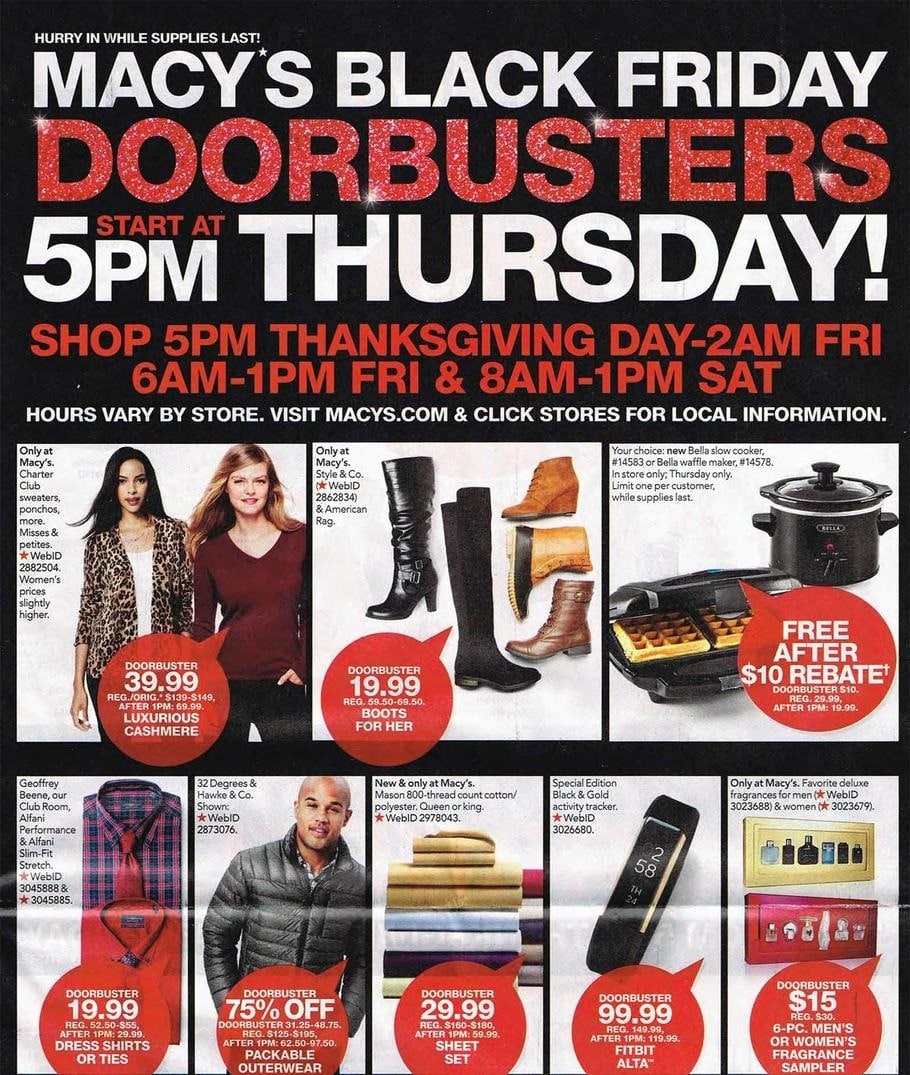 Macy's 2016 Black Friday Ad