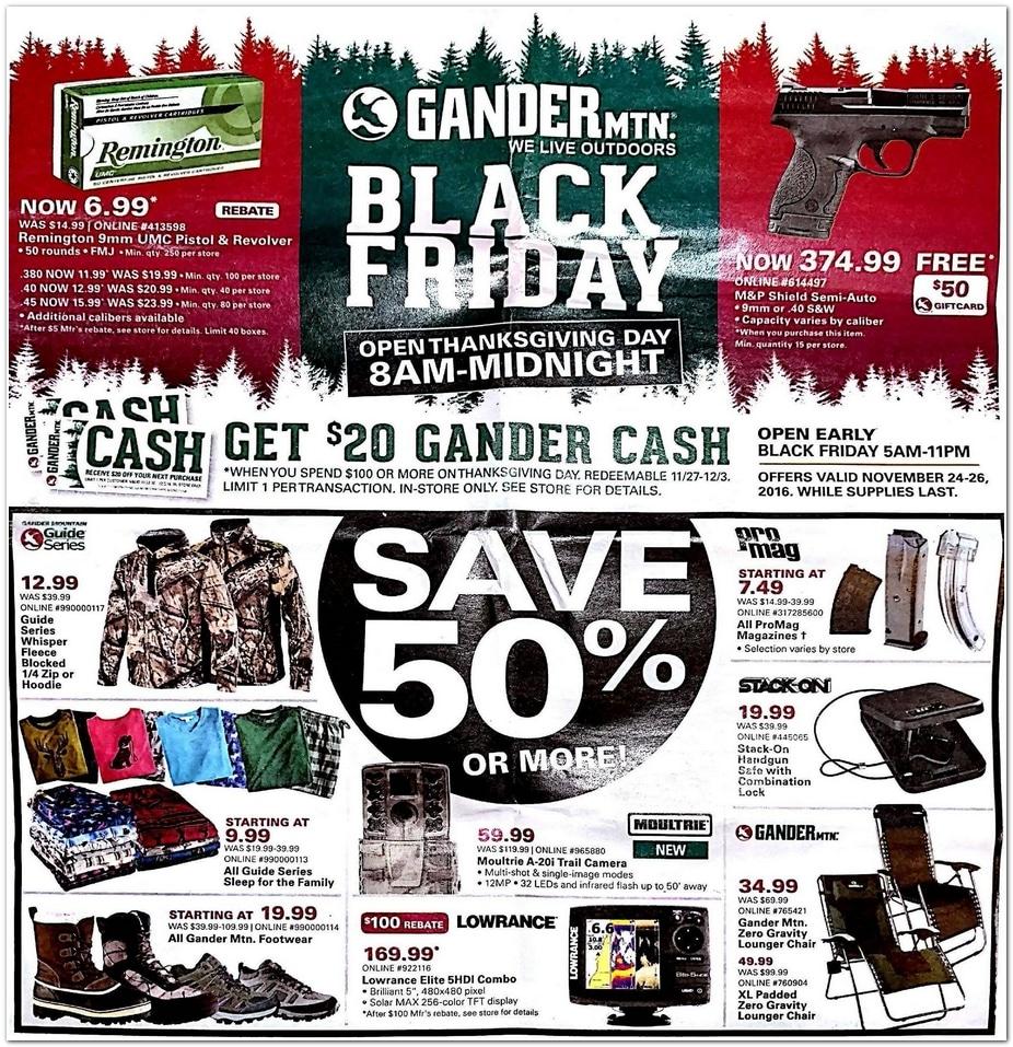 Gander Mountain Black Friday Ad 2016