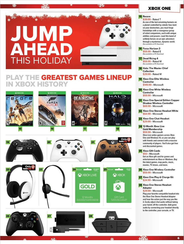 GameStop Holiday Book Ad 2016
