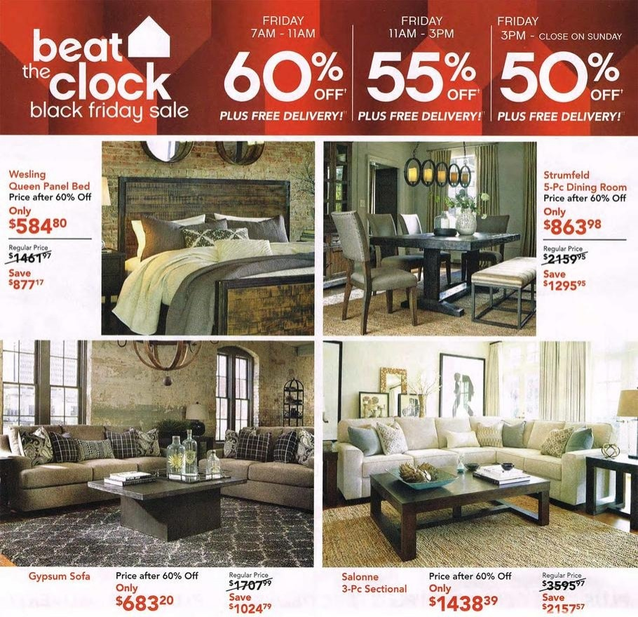 Furniture Black Friday deals on queen sets  reclining sofas  twin  mattresses  dining room tables  pendant lights  console tables  chairs   loveseats   Ashley Furniture Black Friday Ad 2015. Dining Room Sets Black Friday Deals. Home Design Ideas
