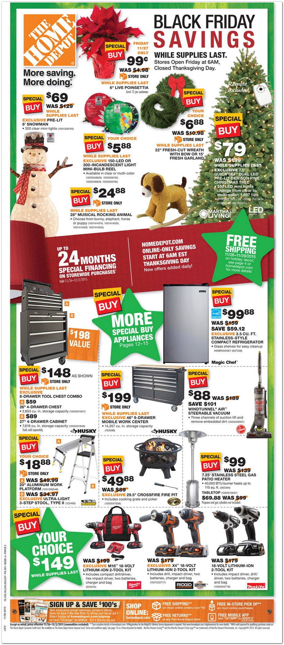 Home Depot 2015 Black Friday Ad