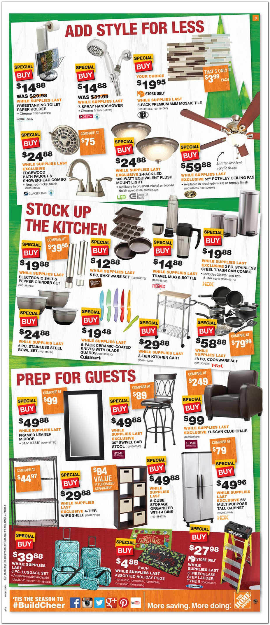 Home Depot Black Friday Ad 2015