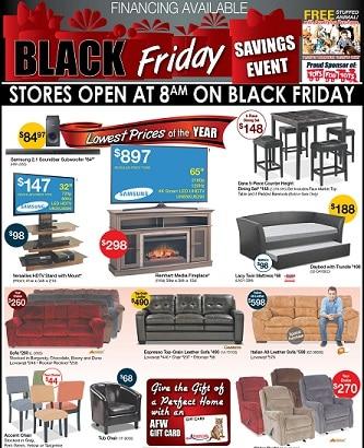 American Furniture Warehouse Black Friday Ad 2016
