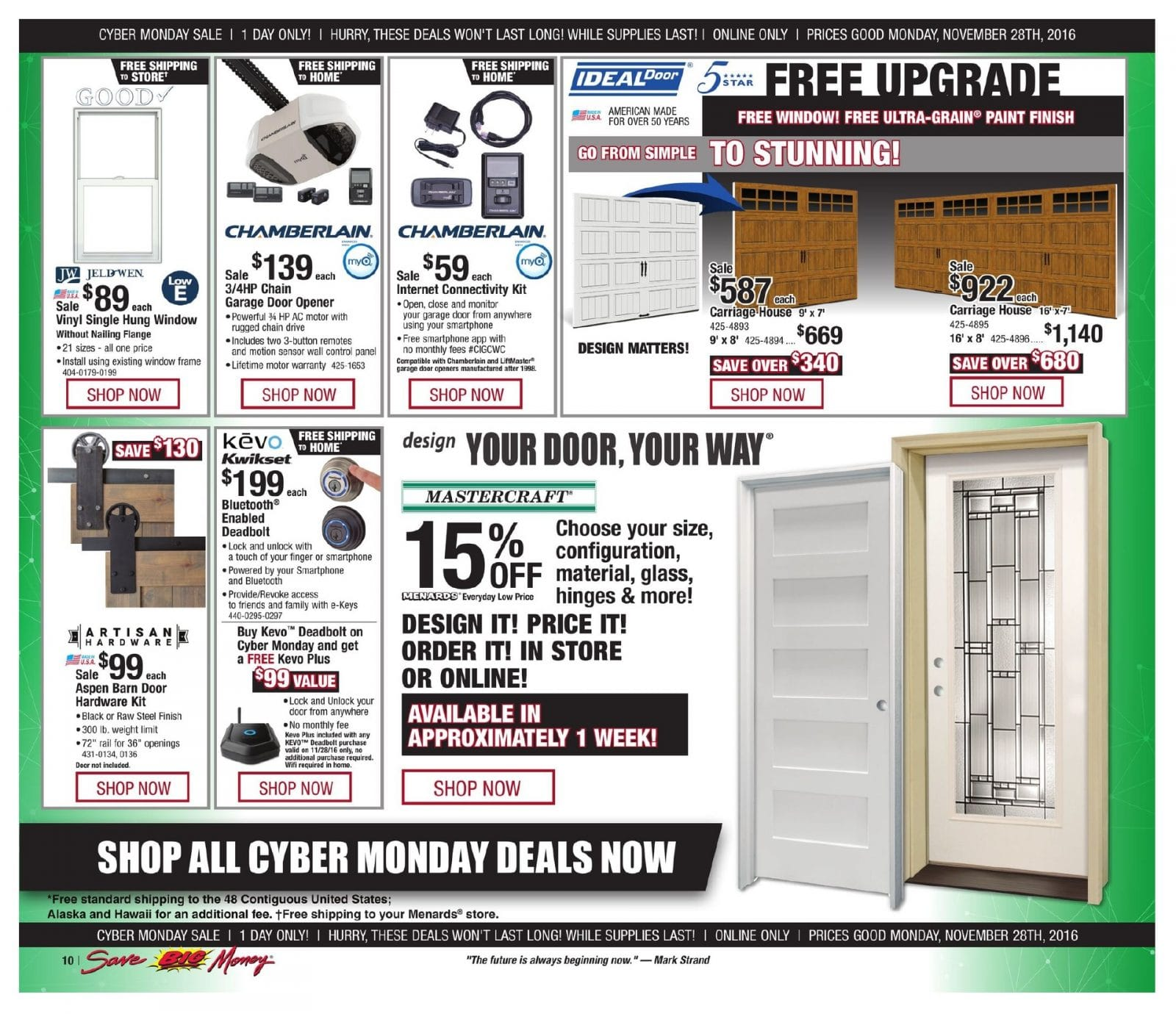 Menards Cyber Monday 2016 Ad