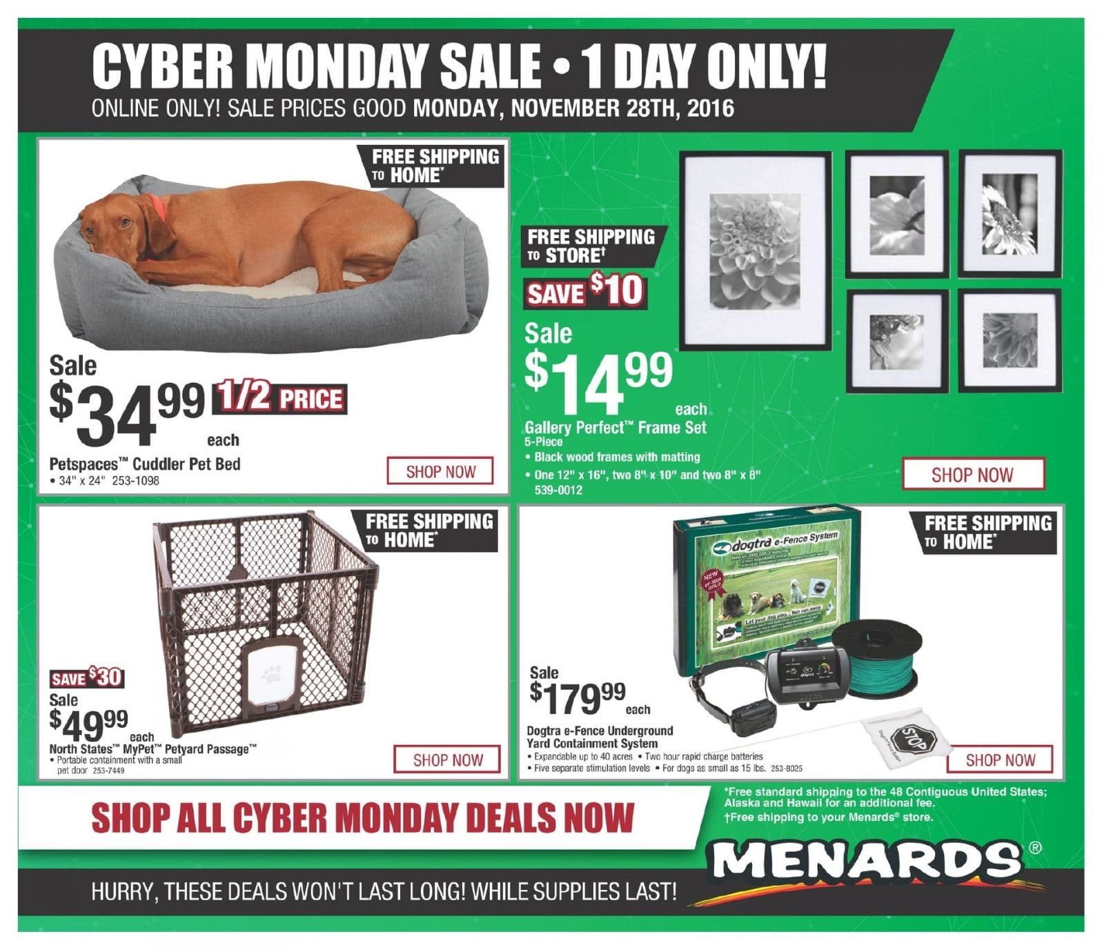 Menards Cyber Monday 2016 Ad