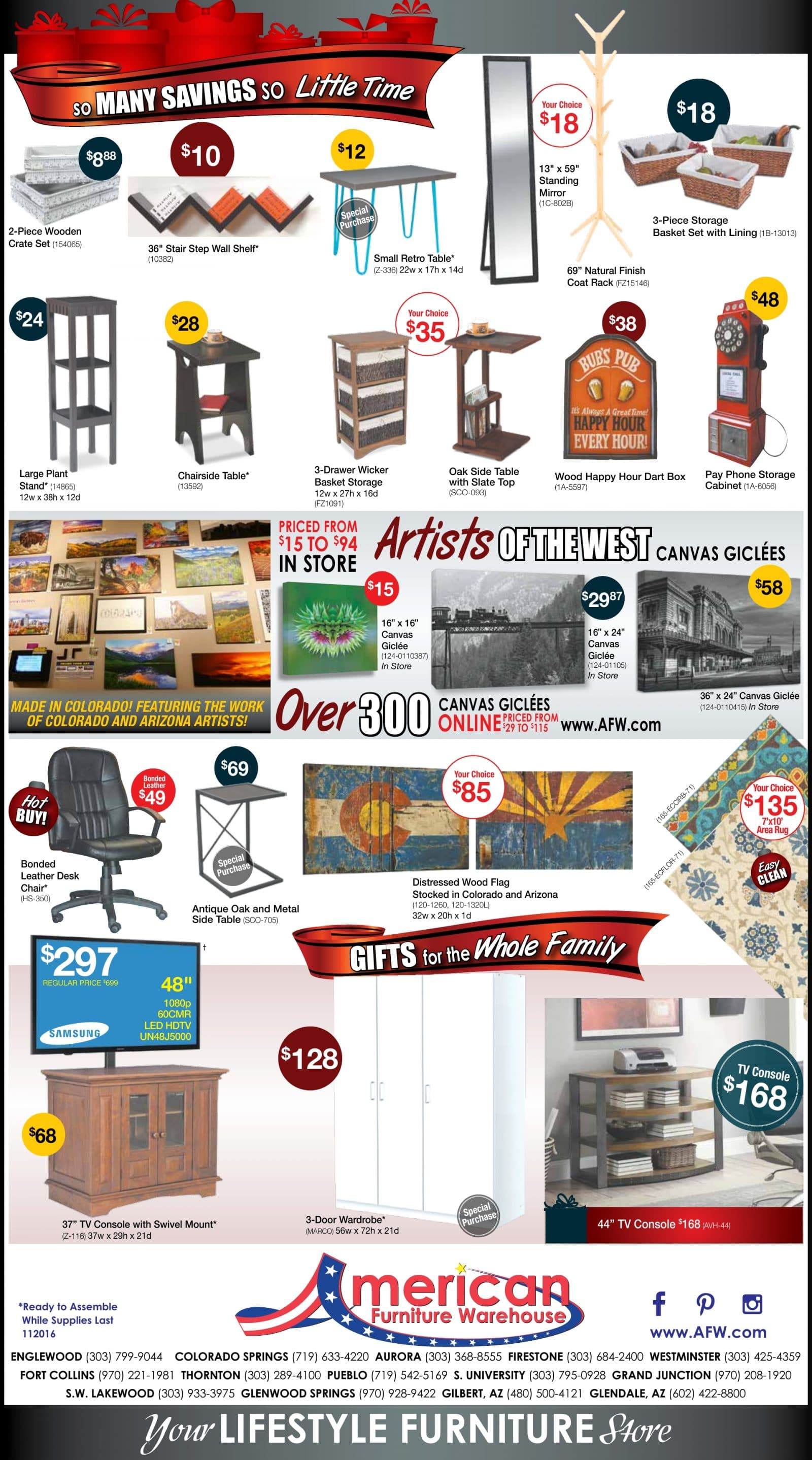 american furniture warehouse black friday ad 2016