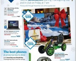Sam's Club Black Friday Ad 2015