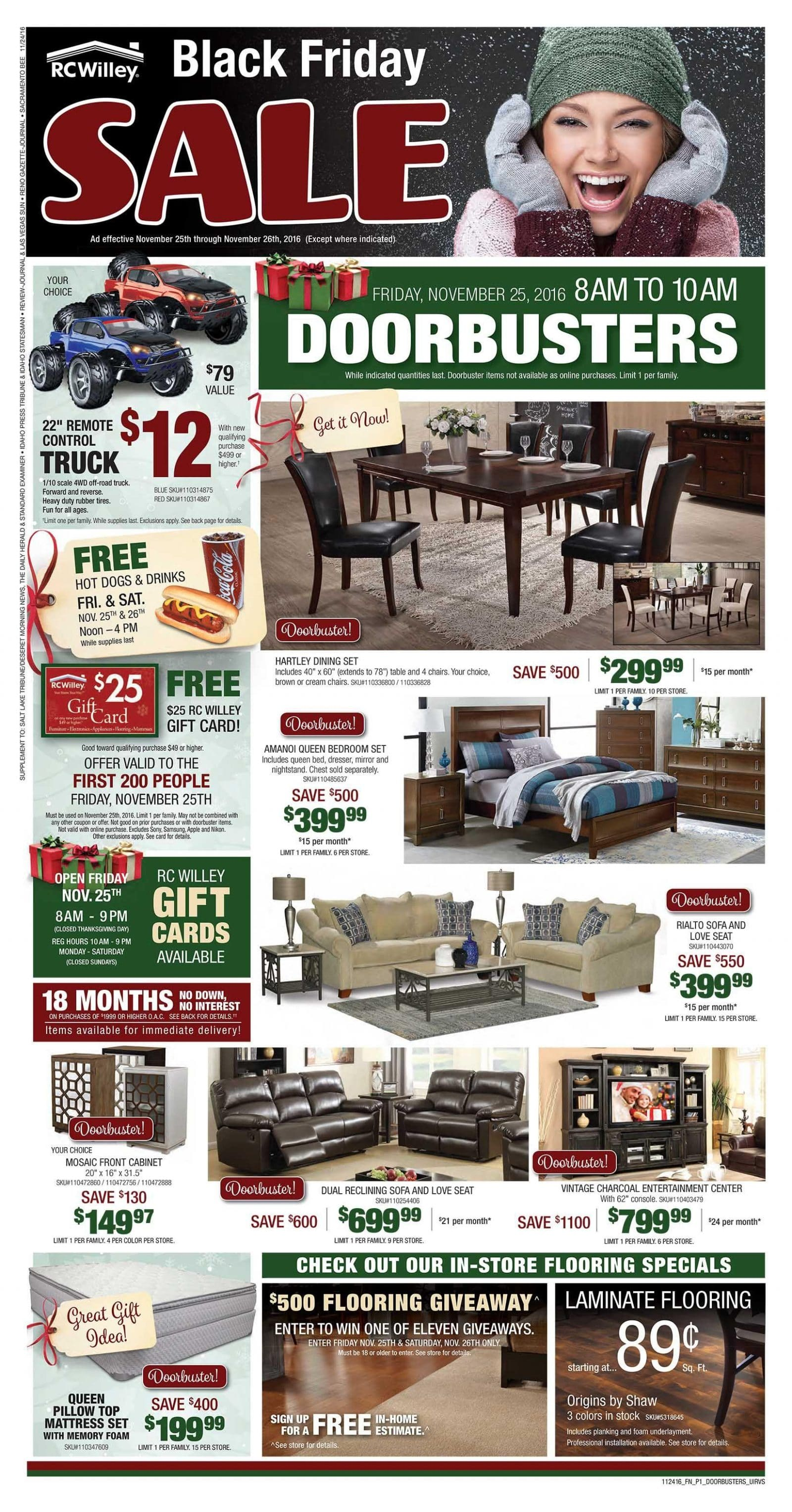 rc willey black friday ad 2016. Black Bedroom Furniture Sets. Home Design Ideas