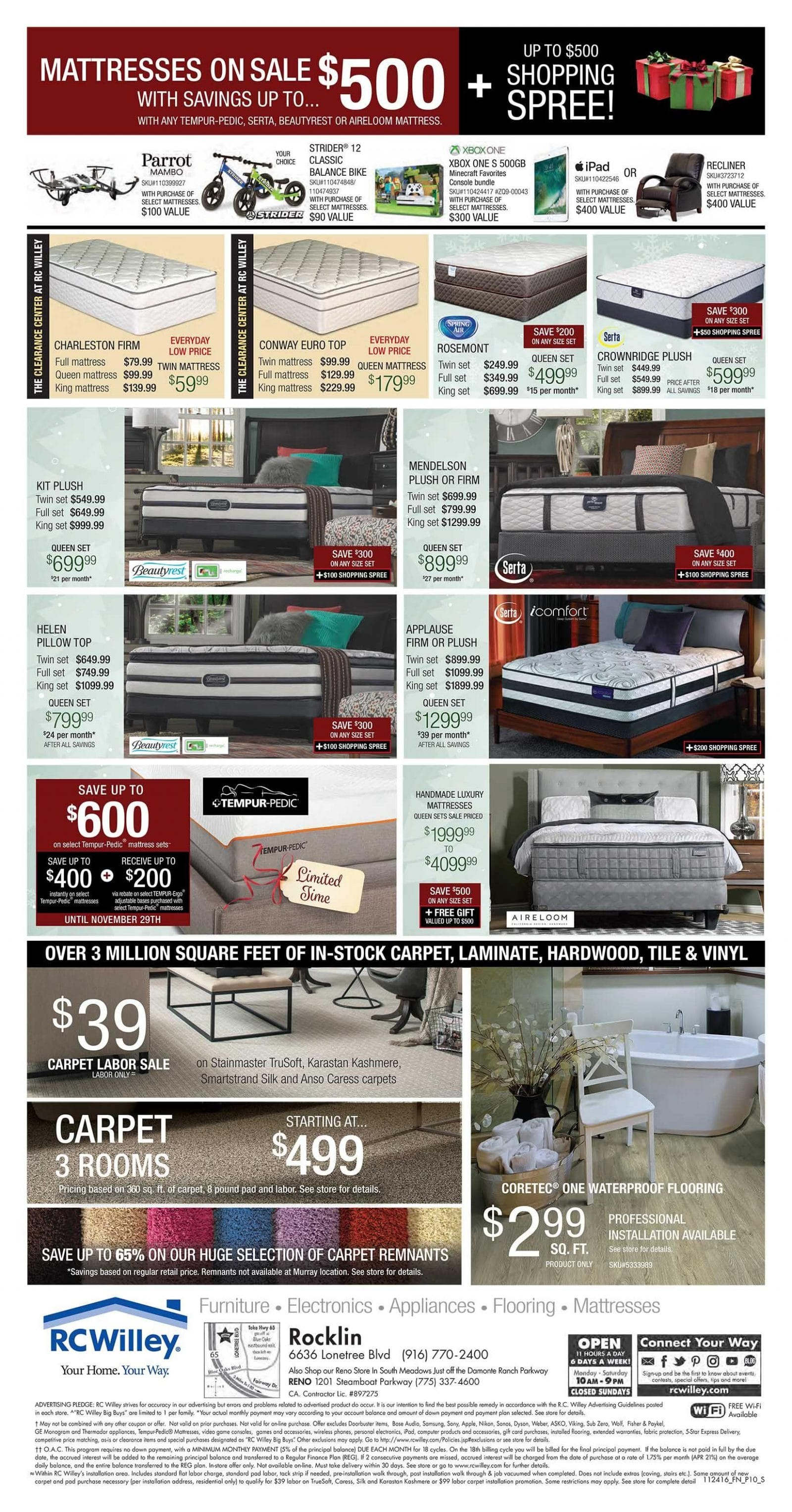 Rc Willey Black Friday Ad 2016