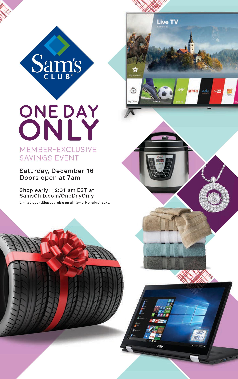 Sams Club One Day Sale