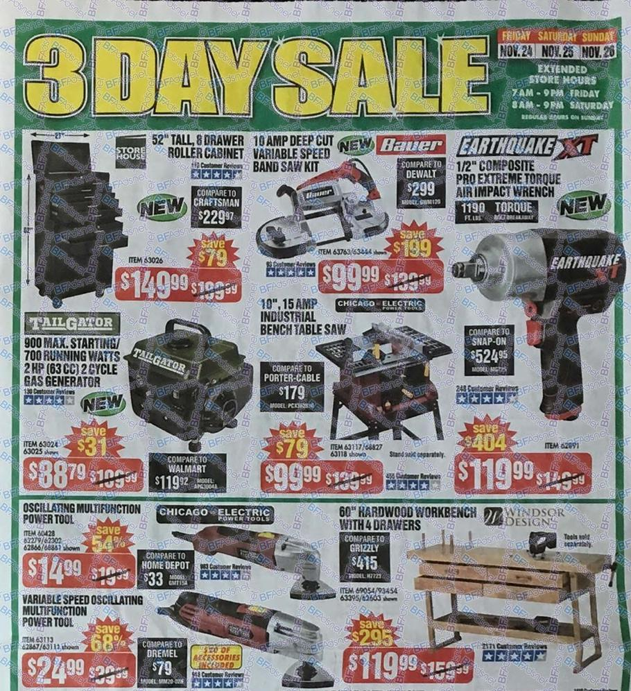 harbor freight tools black friday ad 2017. Black Bedroom Furniture Sets. Home Design Ideas