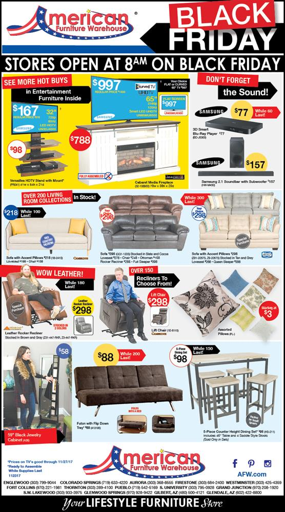American furniture warehouse black friday ad 2017 for Furniture black friday