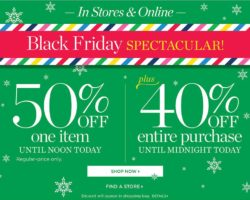 Talbots Black Friday