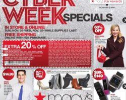 Macy's Cyber Monday Ad 2017
