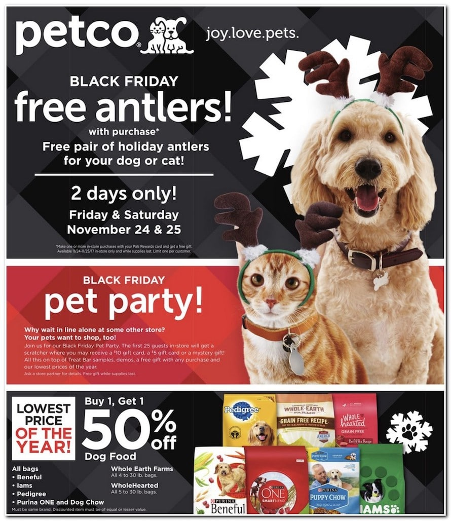 Petco Black Friday 2017