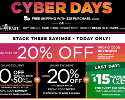 Kohl's Cyber Monday Ad 2017