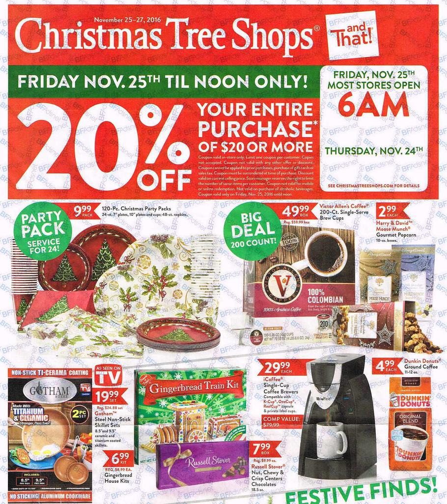 christmas tree shops black friday ad 2016 - Black Friday Deals On Christmas Trees