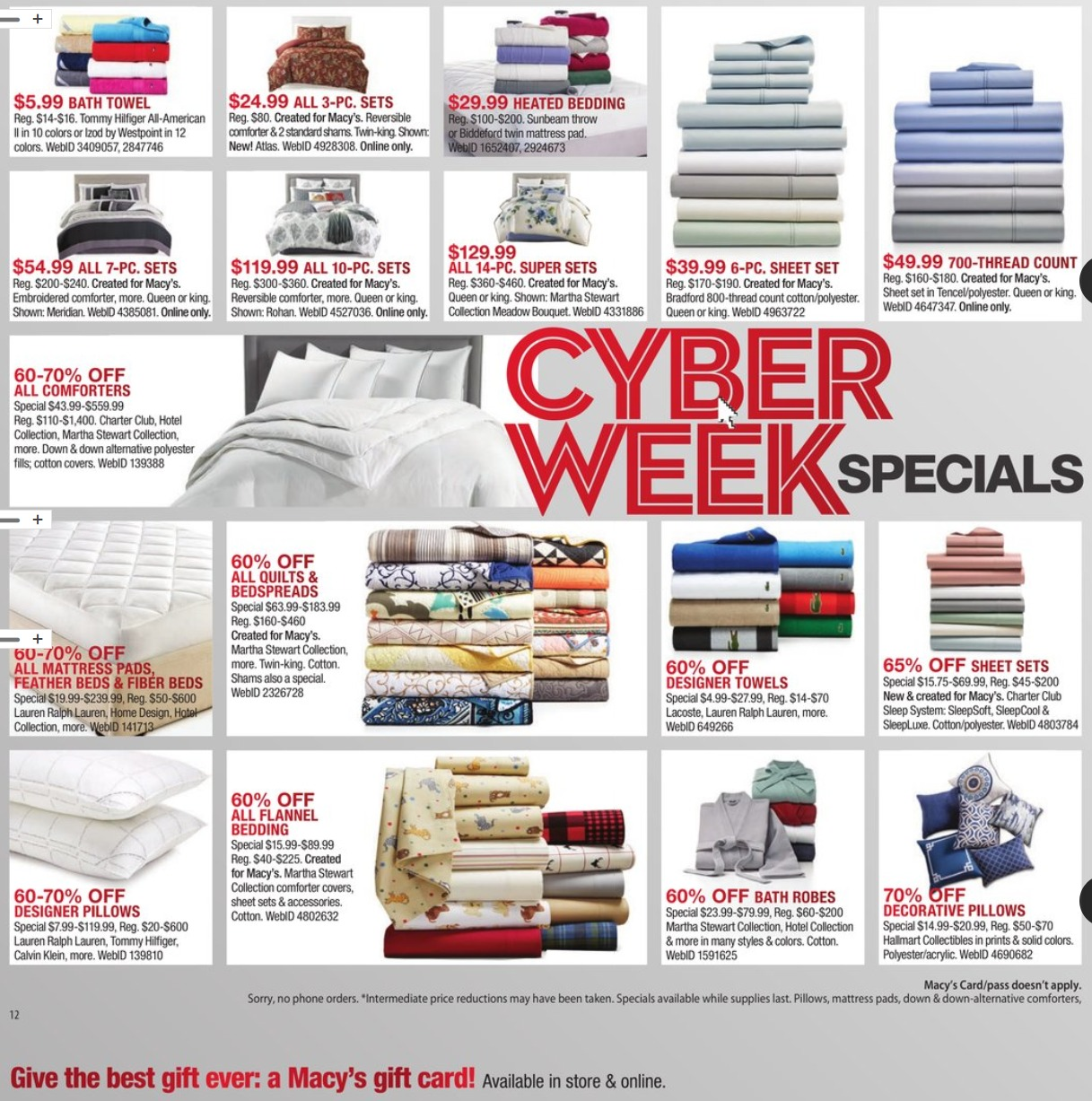 macy 39 s cyber monday ad 2017. Black Bedroom Furniture Sets. Home Design Ideas