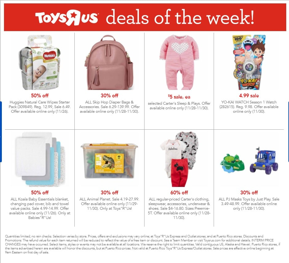 Toys R Us Cyber Monday 2017 Ad