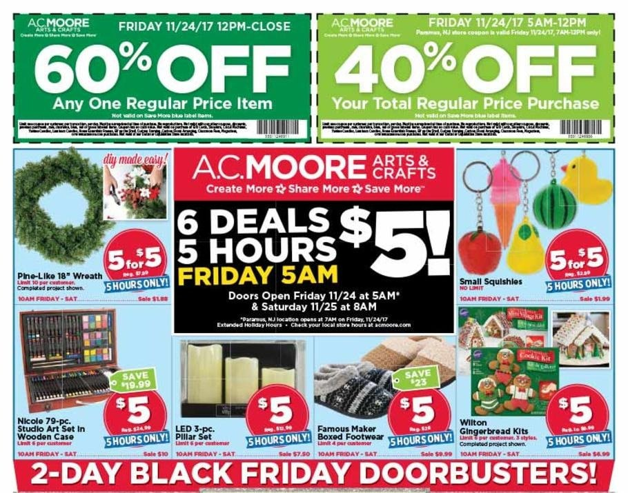 AC Moore 2017 Black Friday