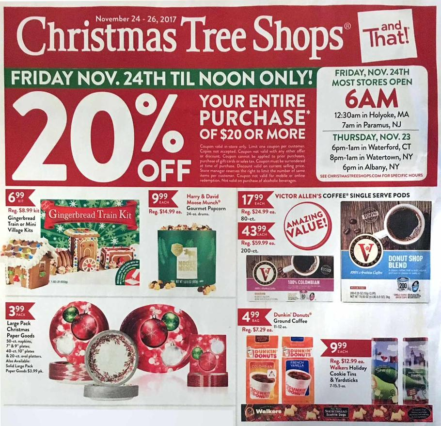 Christmas Tree Shops Black Friday Ad 2017