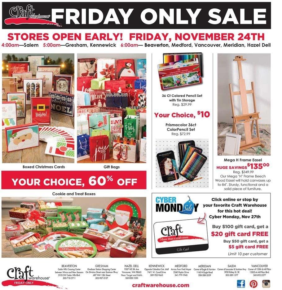 Craft Warehouse Black Friday Ad 2017
