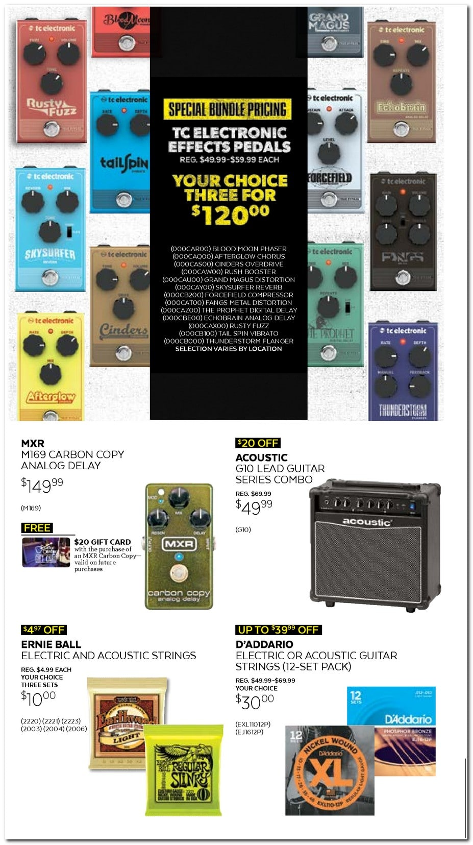 Guitar Center Black Friday Ad 2017