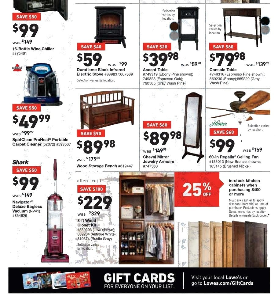 lowe 39 s black friday ad 2017. Black Bedroom Furniture Sets. Home Design Ideas