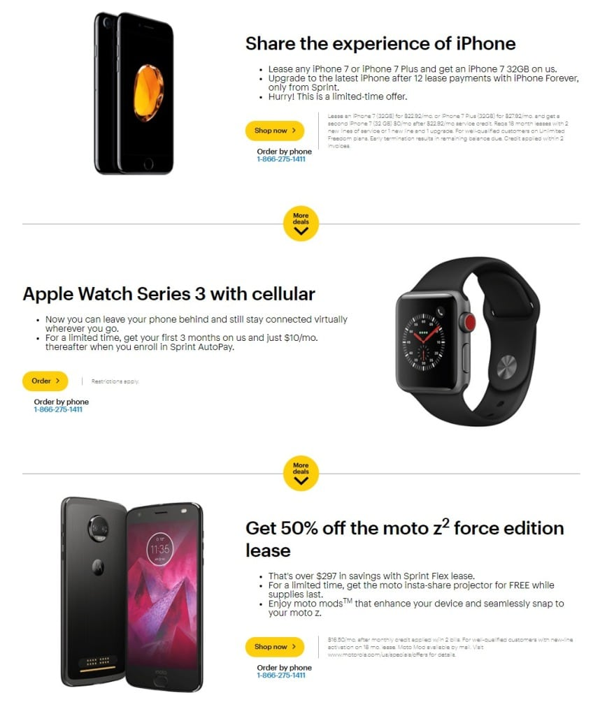 Sprint Black Friday Ad 2017