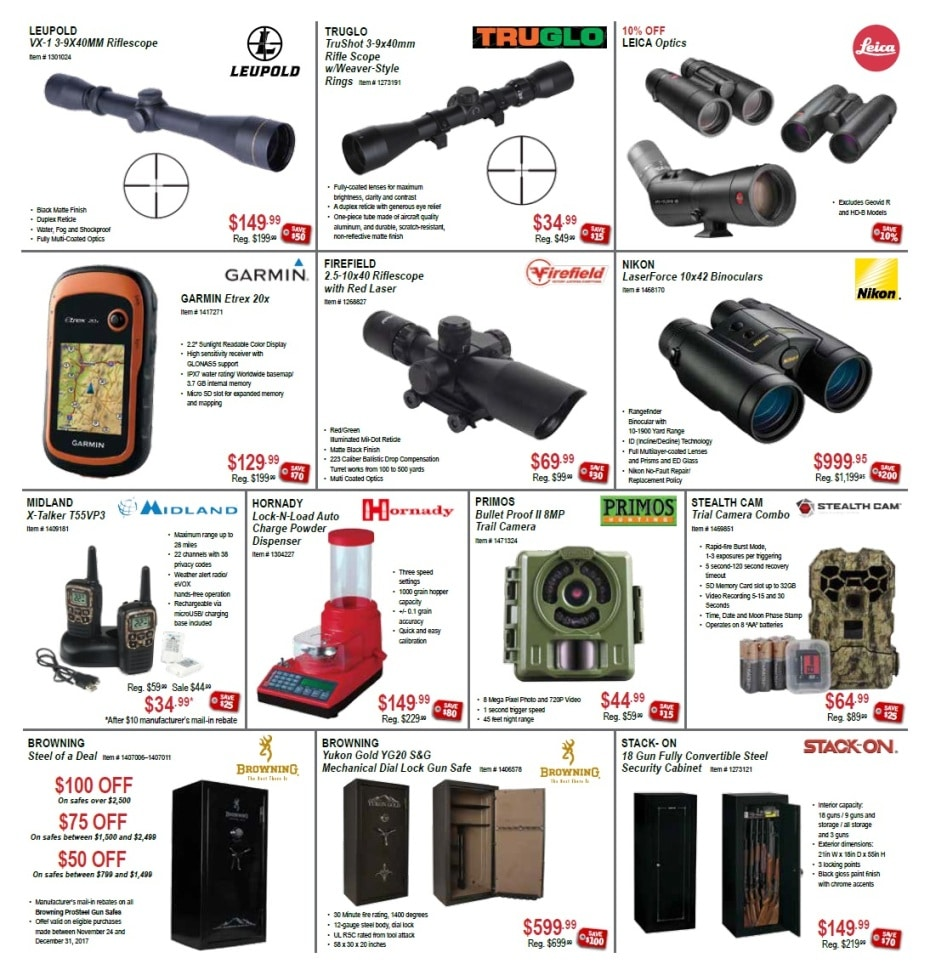 Here are all the top deals in the Sportsmans Warehouse Black Friday Ad! Deals will start online on Thursday morning at am eastern time. Or shop in-store Friday morning starting at 6 am! Search across all the Black Friday ads and see what stores have the best deals. Sportsmans Warehouse Black Friday Ad.