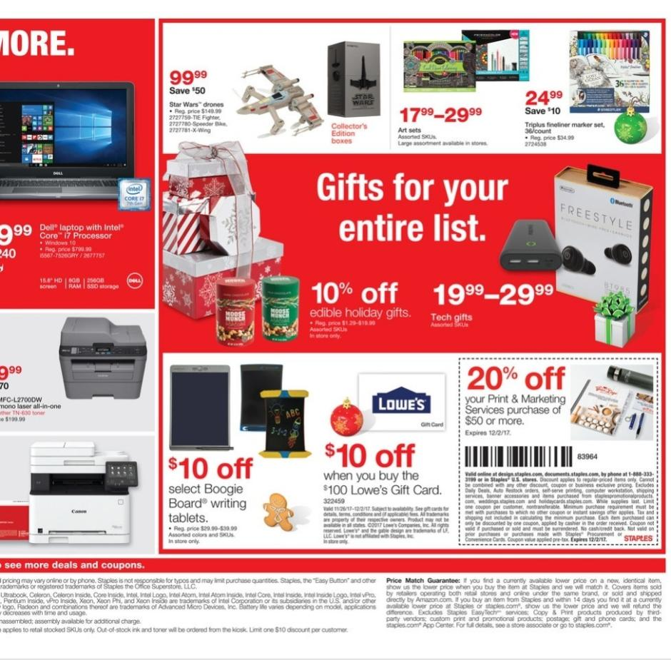 Staples Cyber Monday 2017 Ad
