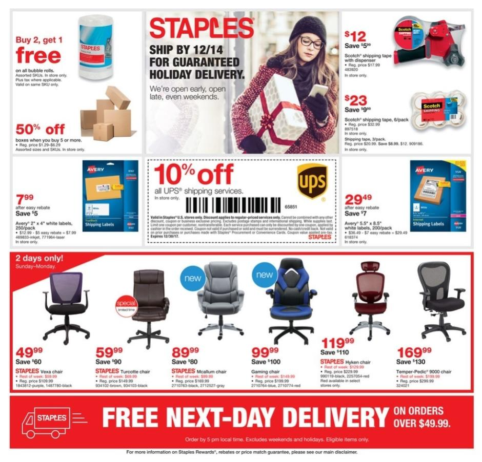 staples cyber monday 2017 ad. Black Bedroom Furniture Sets. Home Design Ideas